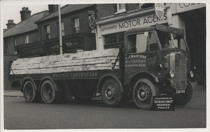 O386 model AEC Mammoth Major MkII with the 'Long Radiator' The registration dates it from around August 1939